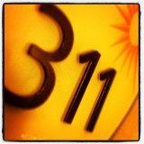 I'm a huge fan of the band 311. Can't help but to snap a quickie every time I come across the numbers in fine order.