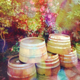 Oak Wine Casks and Colorful Leaves in Napa, California, copyright 2014 @annaporterartist. View/buy my entire collection of travel prints available for purchase in my Instaprints Gallery at http://annaporter.instaprints.com . View/buy my original paintings for sale on my website at http://annaporterartist.com and in my Fine Art America Gallery at http://annaporter.fineartamerica.com. Follow me on Instagram at http://instagram.com/annaporterartist .