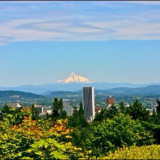 View of Mt. Hood from the Portland International Rose Test Garden, copyright 2014 @annaporterartist. View/buy my entire collection of Portland prints available for purchase in my Instaprints Gallery at http://annaporter.instaprints.com . View/buy my original paintings for sale on my website at http://annaporterartist.com and in my Fine Art America Gallery at http://annaporter.fineartamerica.com. Follow me on Instagram at http://instagram.com/annaporterartist .