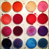 Palette of watercolors