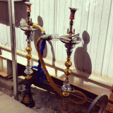 #biggest #bongs that I have ever laid my #eyes on! #Arabic #smoking #pipe #hubblybubbly #tobacco #Iraq #middleeast #gold #ash