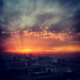 Beautiful sunset. Shot on Samsung Galaxy S2 in Kyiv, Ukraine