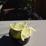 fresh limes from the salsa bar at the Original Rubio's in Mission Beach, San Diego, CA