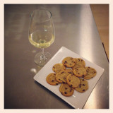 Ahh, comfort food after a long day! Chardonnay & hot fresh baked cookies!