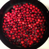 Cranberry sauce creation. #thanksgiving