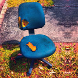 Sometimes I feel like an idiot taking pictures of chairs on the streets. I wish I had a normal fetish