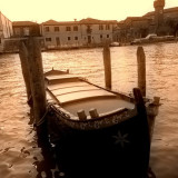 One of the many gondolas in Venice and Murano Island, Italy