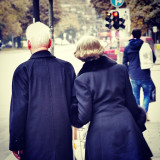 An elderly couple in Munich, Germany.