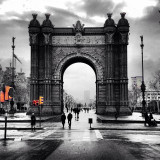 The Arc de Triomf, Barcelona on a day in February.