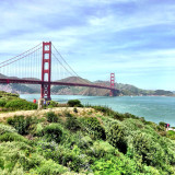 On a bike ride to Sausalito by way of the Golden Gate Bridge.