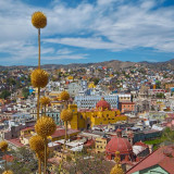 Midday landscape shot of Guanajuato State capital, Guanajuato, Mexico. One of the most beautiful mexican cities. This city was declared world heritage by the UNESCO.