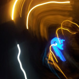 Simple camera movements somehow created.... that... out of light trails.