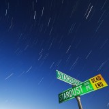 Star light and street sign