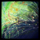 See beauty in what you do! kellyannart.com | abstract painting reflecting on water.