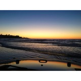 Driving my Jeep in the ocean at sunset!