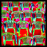 Colourful chairs at The Spa, Scarborough.