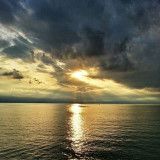 Sunset over Lake Erie, Sturgeon Point in Evans NY, Just outside of Buffalo