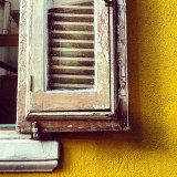 Patina beauty yellow partial window. Finalist for Panacea4panache challenge. Winner by votes