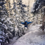 Justin letting loose on this snowy zone in Silverton, Colorado.
