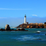 Taken while traveling the Pacific Coastal Highway through California. Pigeon Point Lighthouse. Perched on a cliff on the central California coast, the 115-foot Pigeon Point Lighthouse has guided mariners since 1872.