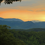 Beautiful Sunset in the Great Smoky Mountains