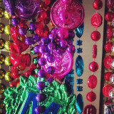 mardi gras beads.  authentic from new orleans