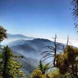 Looking east from Mt. Wilson Observatory on Memorial Day as the fog and clouds started to burn off mid-morning.