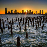 Sunset in New York City / New Jersey / Jersey City