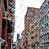 Bubbles in street