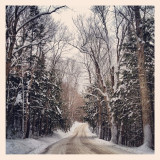 A snowy road outside of Groton, Vermont.