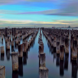 Long Exposure shot of Princes Pier, Port Melbourne. It rained all day then suddenly the sky in front of the pier started to clear!