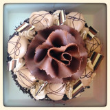 My dad's beautiful birthday cake from Caffe Concerto - Piccadilly, London.