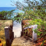 I took this picture on little corn island, its right next to the cemetery.