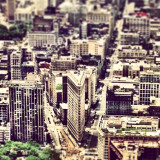 view from a helicopter over Manhatten