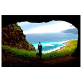 Yoga pose in a cave.