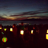 Toro Nagashi, the floating lantern ceremony is performed at Lahaina Jodo every year during is bon dance festival.