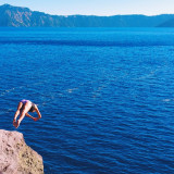Ready to take another plunge into the blue, Crater Lake, Oregon