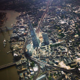 Flying over London's Shard tower at 2000 feet.