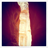 Ancient temple carved into the cliffs. Petra, Jordan.