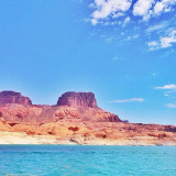Do you see the heart on the rock formations? Lake Powell. One of my entries for the #icnightout challenge!