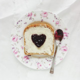 Toast with jam for breakfast