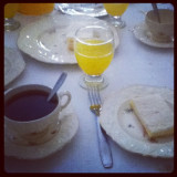 Taking tea with my family :D