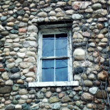 Just a cool old window on an old fieldstone building.