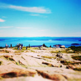 Drive, bike or hike up to the top of Cadillac Mountain, Acadia National Park, Maine