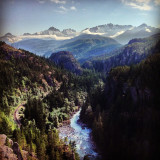 Gorgeous viewpoint along the Sea to Sky highway from Whistler to Vancouver. Beautiful British Columbia, what can I say?