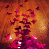 Just playing around with some table confetti.