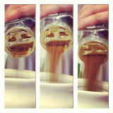 The Amazing Vomiting Coffee-face.A little game Joe likes to play with the instant coffee jar.