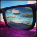 was on the beach and decided to try my polarized glasses