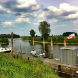 When you go for a walk at the river Elbe in Hitzacker, Northern Germany, you have this beautiful view across the river. On the other side are no houses because it is a protected nature zone, which is almost untouched because it was the forbidden border district of the former GDR.