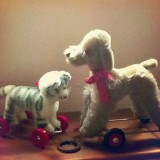 Fancy meeting you here... Vintage cat & dog toys